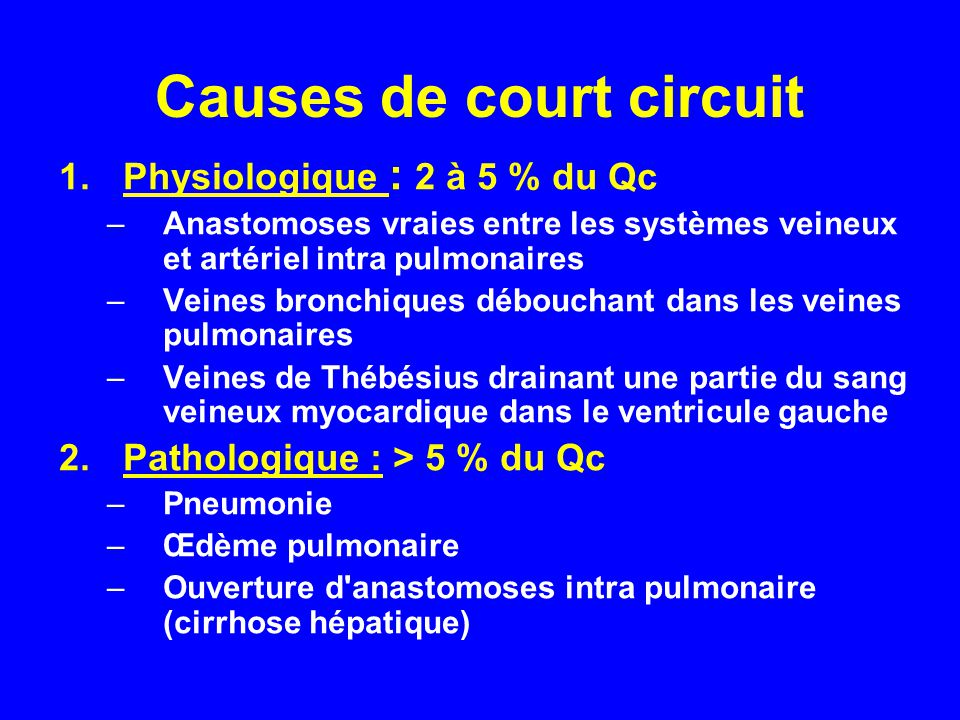 Causes de court circuit