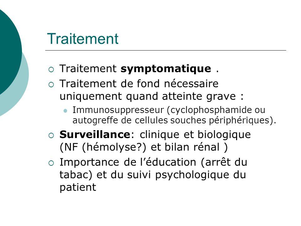 Traitement Traitement symptomatique .