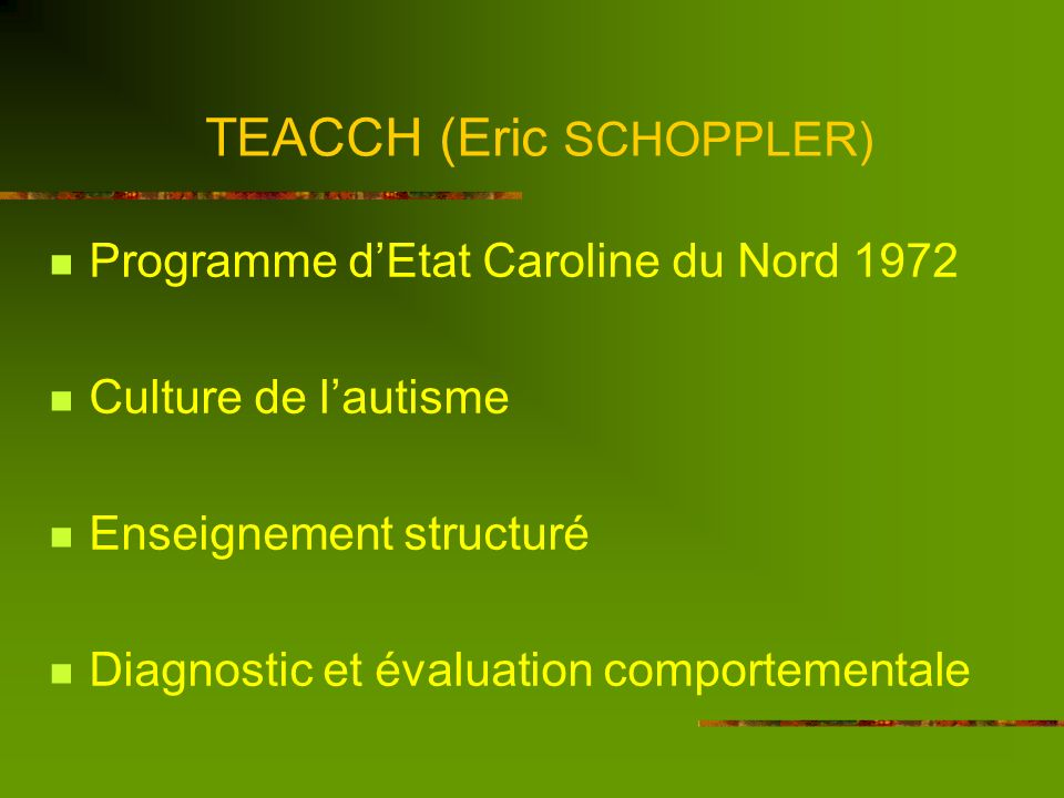 TEACCH (Eric SCHOPPLER)