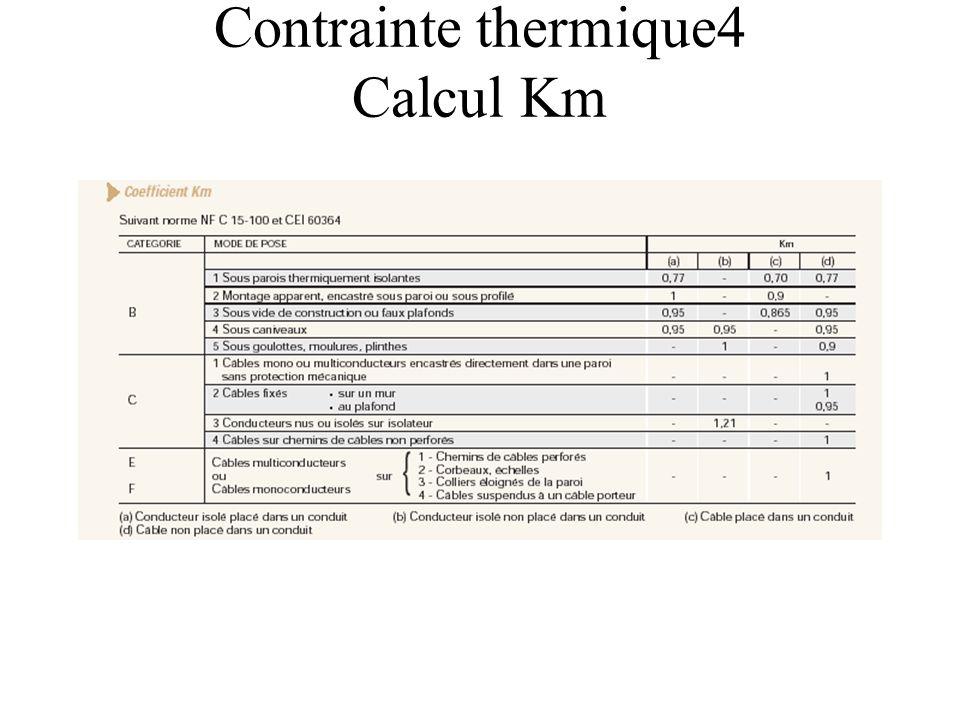 Contrainte thermique4 Calcul Km