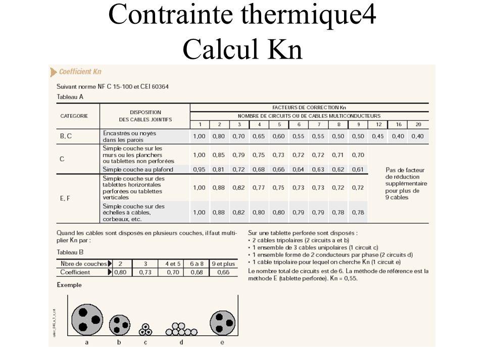 Contrainte thermique4 Calcul Kn