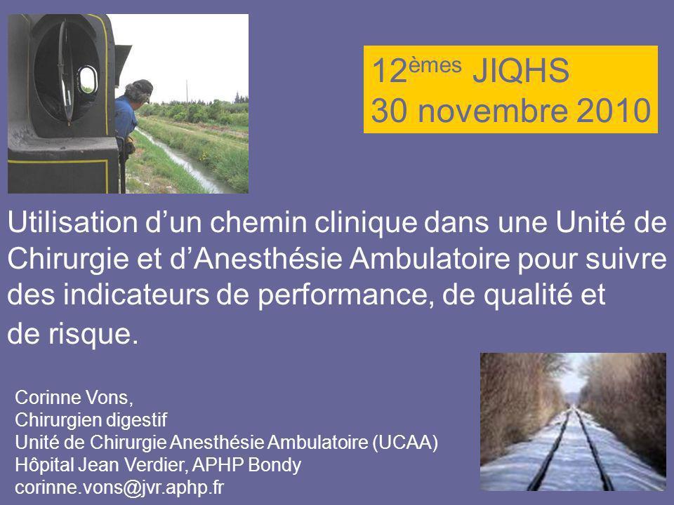 12èmes JIQHS30 novembre 2010.