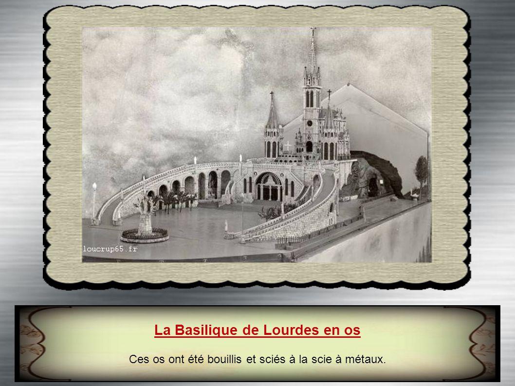 La Basilique de Lourdes en os
