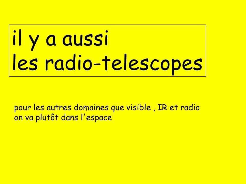il y a aussi les radio-telescopes