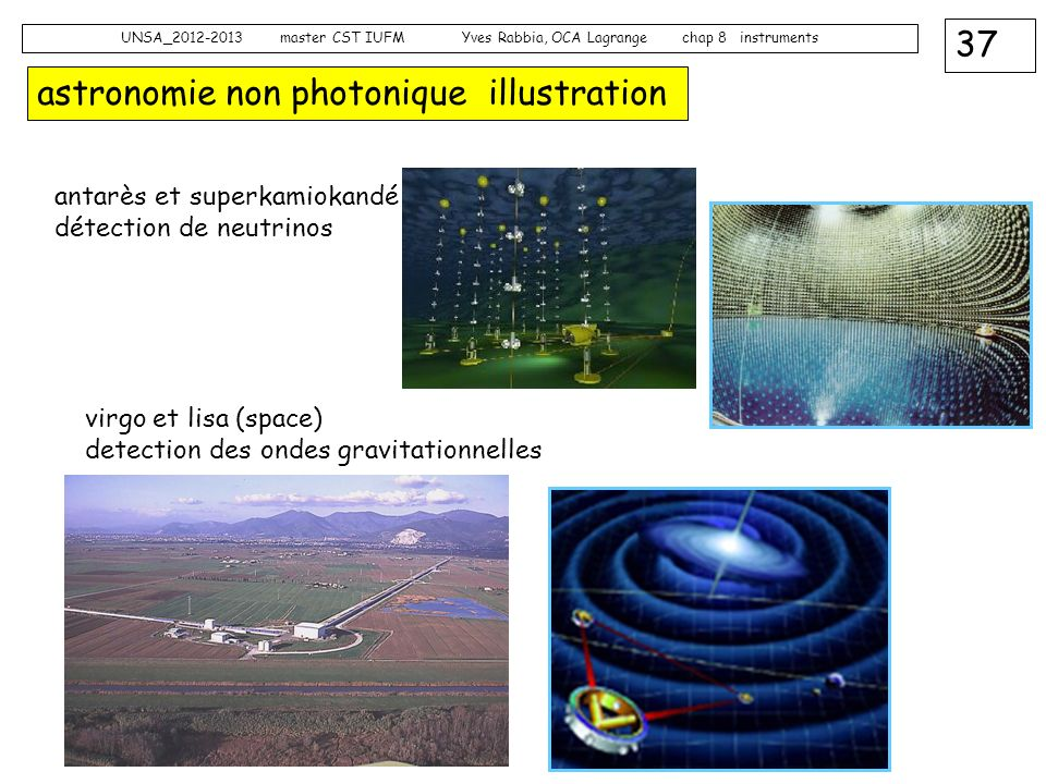 astronomie non photonique illustration