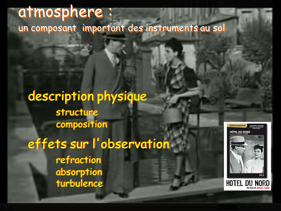 atmosphere : un composant important des instruments au sol