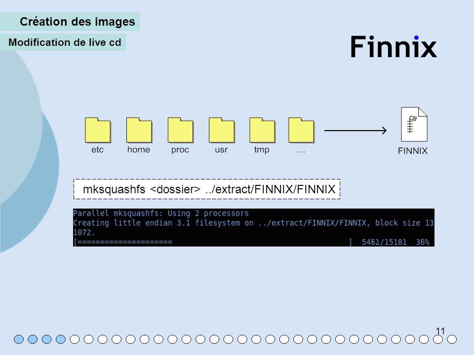 mksquashfs <dossier> ../extract/FINNIX/FINNIX