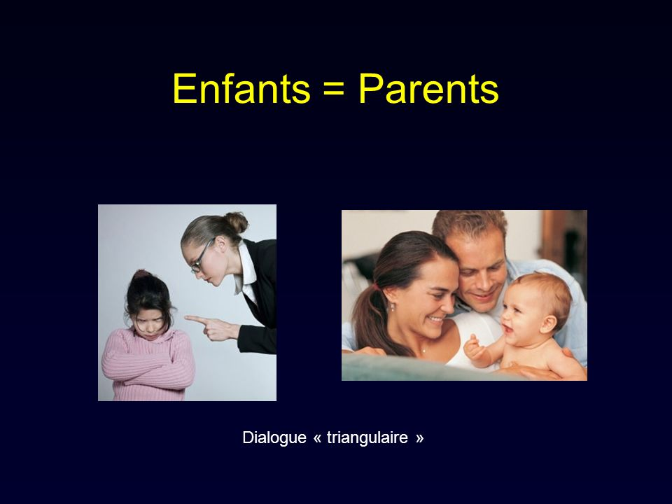 Enfants = Parents Dialogue « triangulaire »