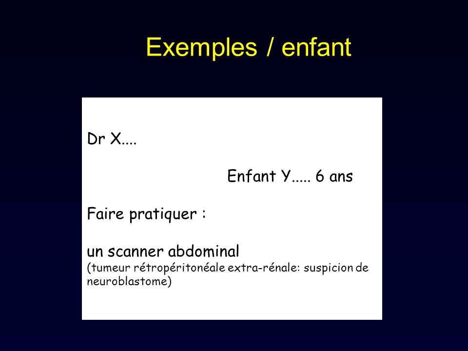 Exemples / enfant