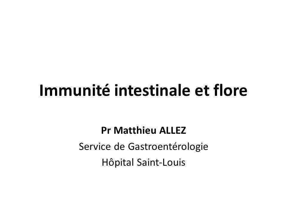 Immunité intestinale et flore
