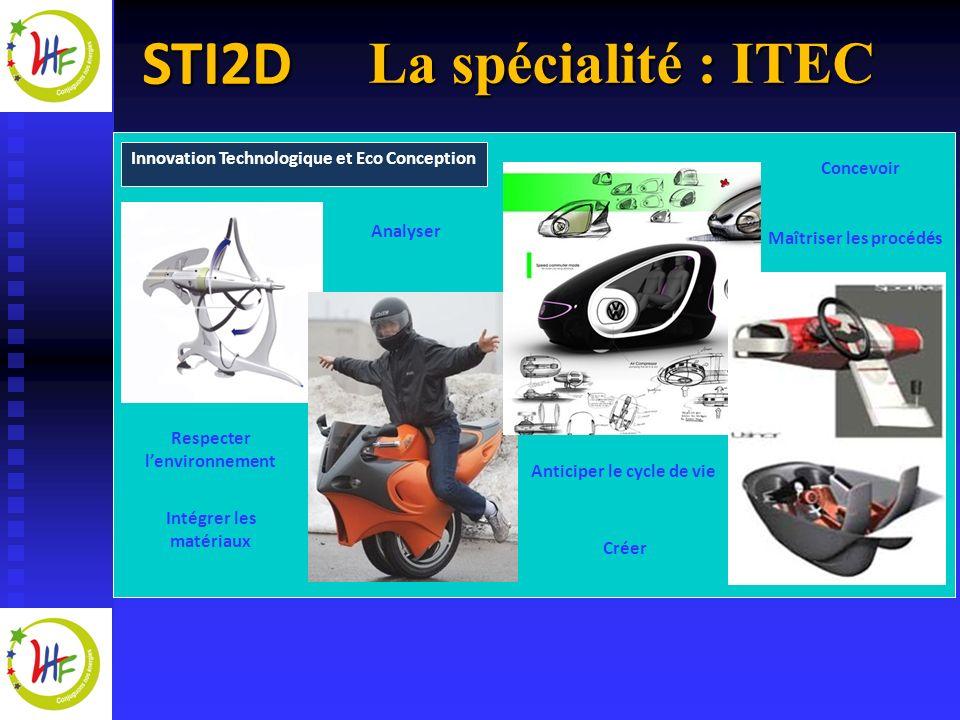 La spécialité : ITEC Innovation Technologique et Eco Conception