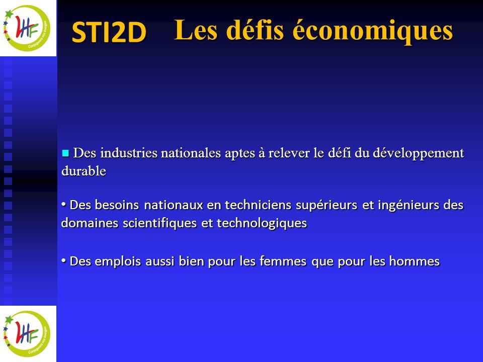 Les défis économiques Des industries nationales aptes à relever le défi du développement durable.