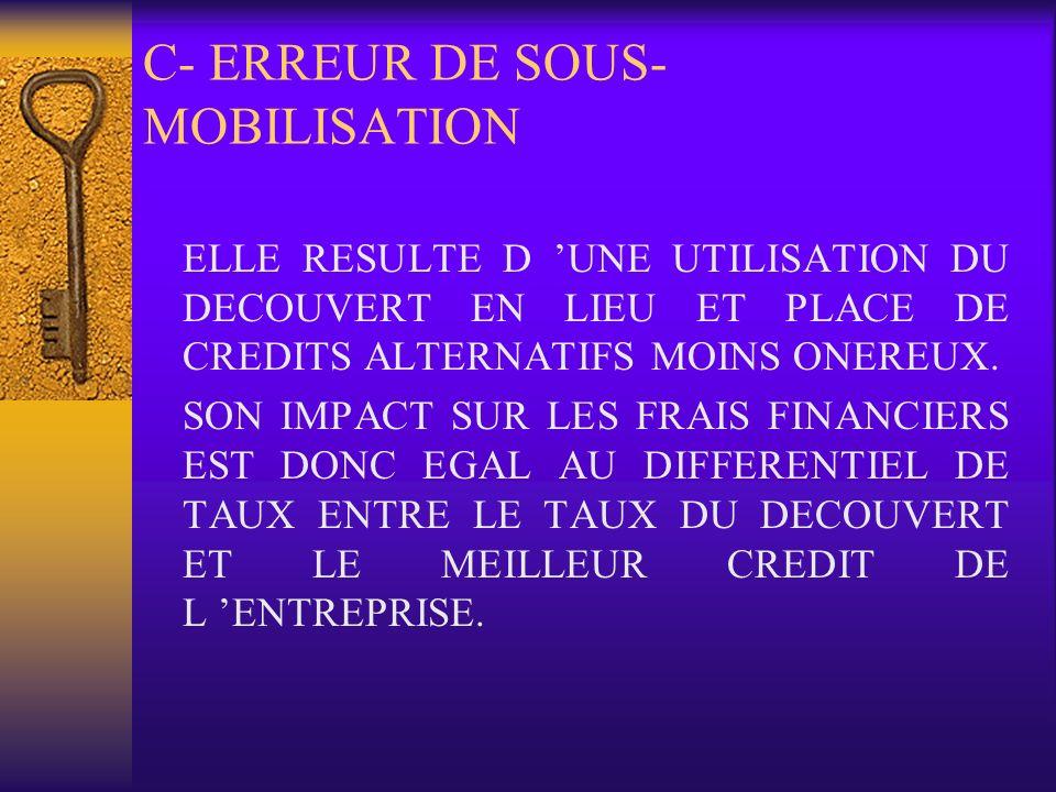 C- ERREUR DE SOUS-MOBILISATION