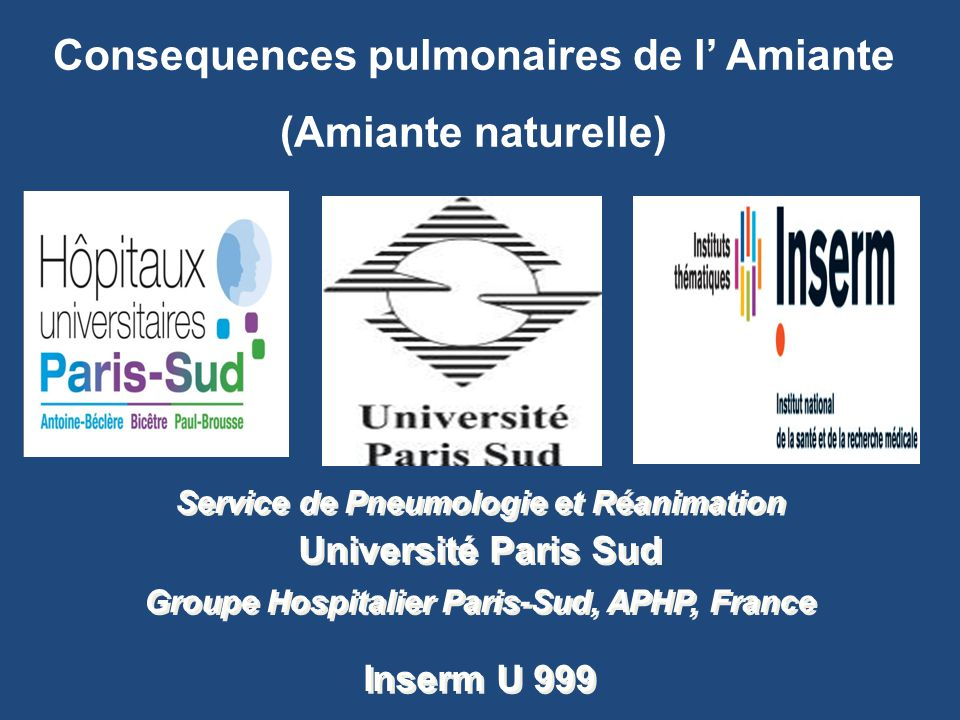 Consequences pulmonaires de l' Amiante (Amiante naturelle)