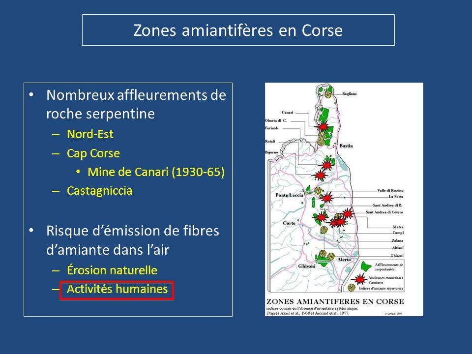 Zones amiantifères en Corse