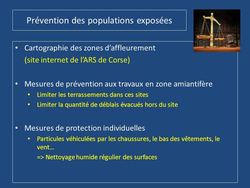 Prévention des populations exposées