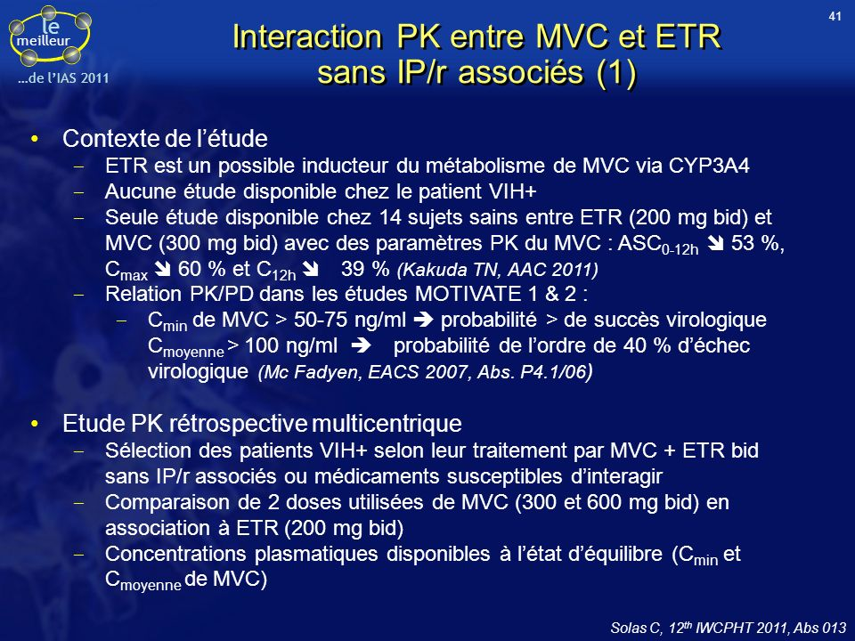 Interaction PK entre MVC et ETR sans IP/r associés (1)