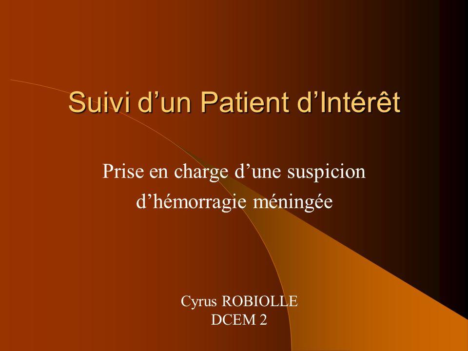Suivi d'un Patient d'Intérêt