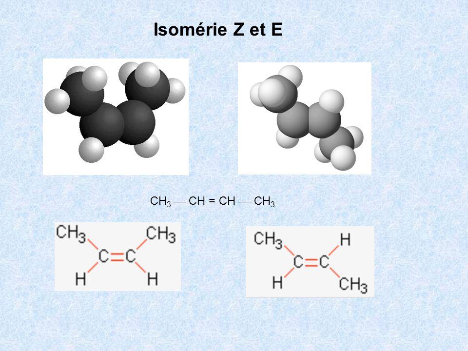 Isomérie Z et E CH3  CH = CH  CH3
