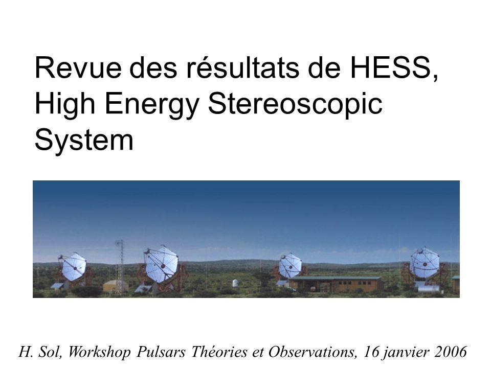 Revue des résultats de HESS, High Energy Stereoscopic System