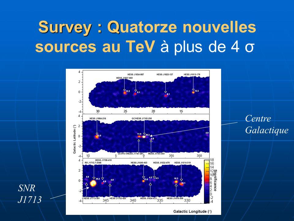 Survey : Quatorze nouvelles sources au TeV à plus de 4 σ