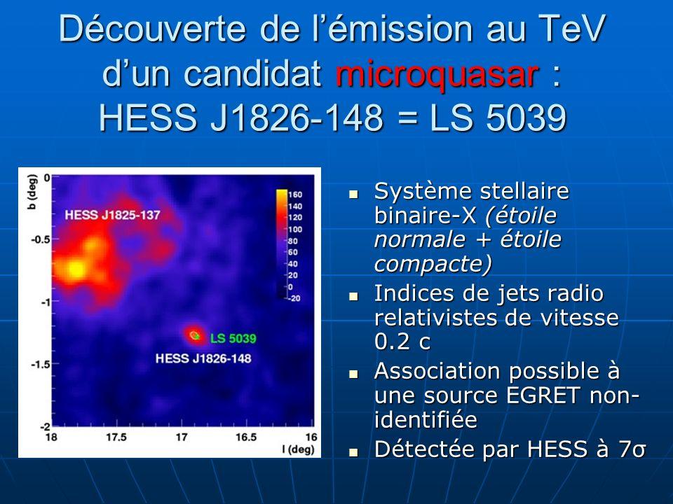Découverte de l'émission au TeV d'un candidat microquasar : HESS J1826-148 = LS 5039