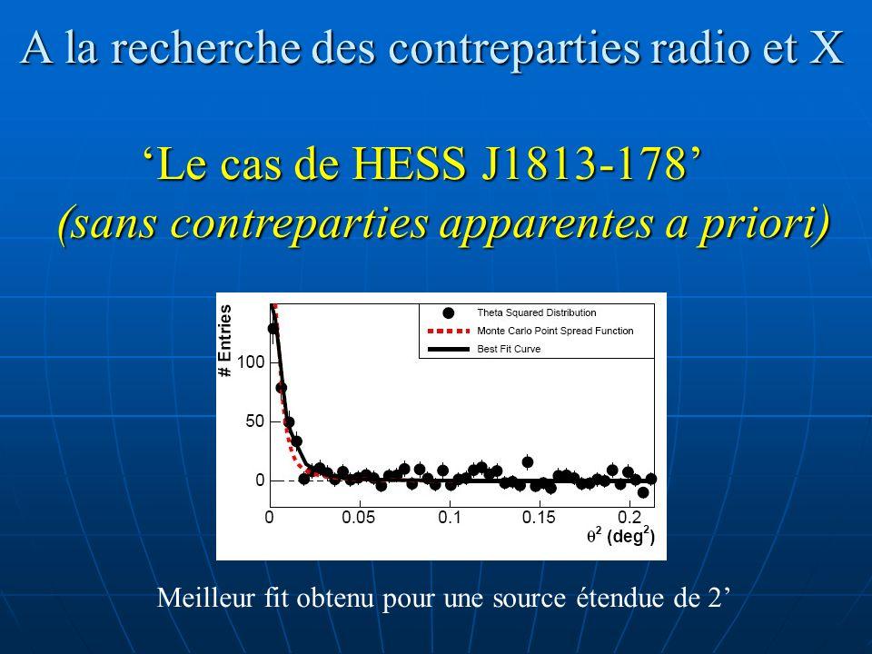 A la recherche des contreparties radio et X 'Le cas de HESS J1813-178'