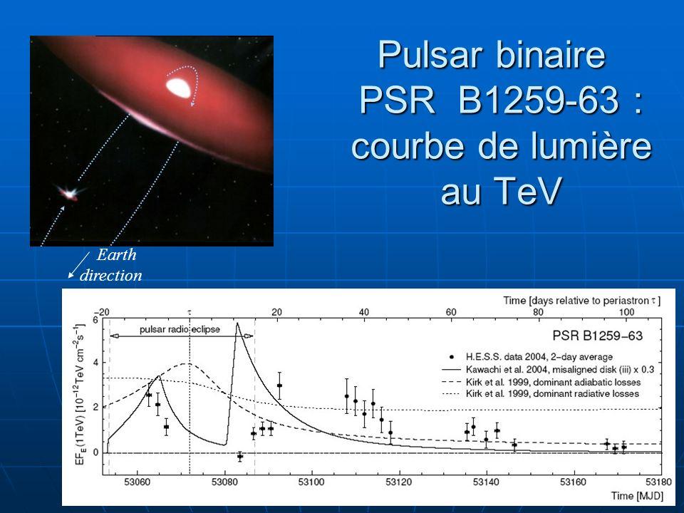 Pulsar binaire PSR B1259-63 : courbe de lumière au TeV