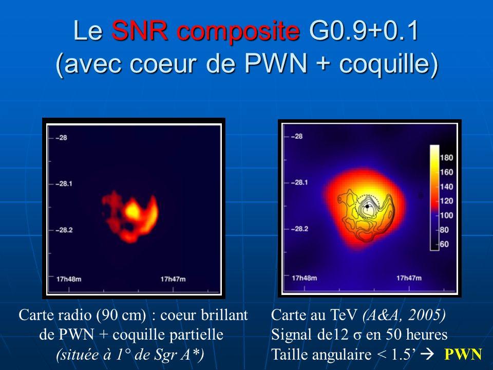 Le SNR composite G0.9+0.1 (avec coeur de PWN + coquille)