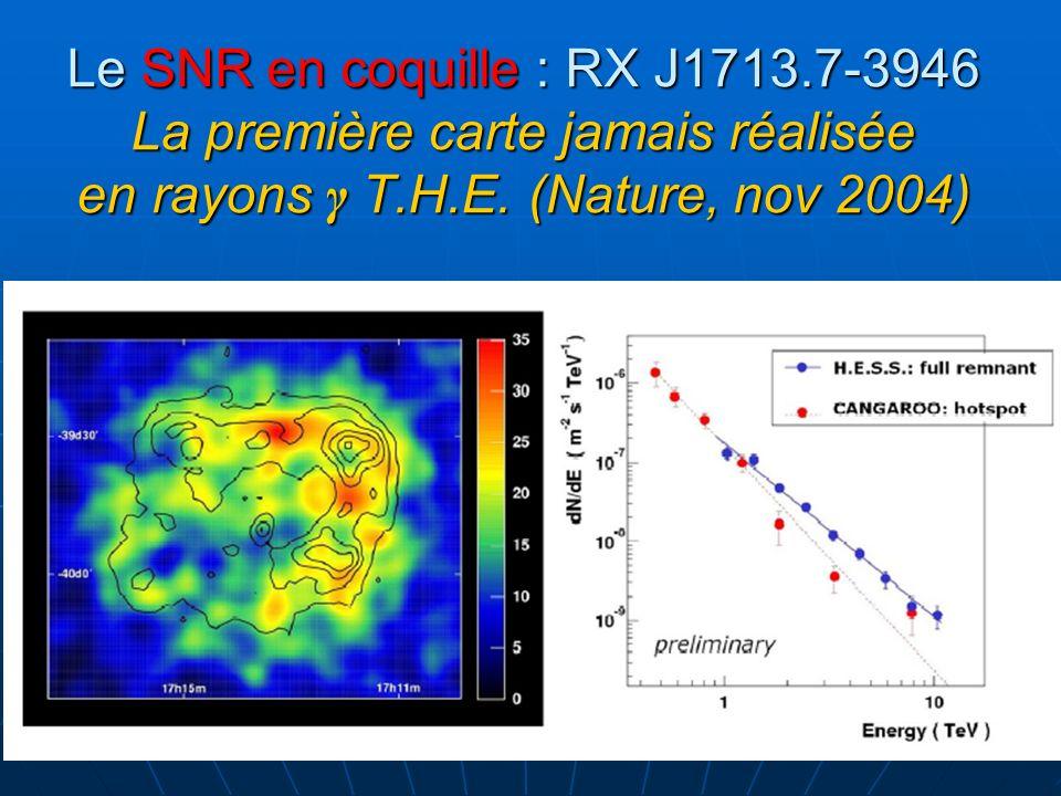 Le SNR en coquille : RX J1713.7-3946 La première carte jamais réalisée en rayons γ T.H.E.