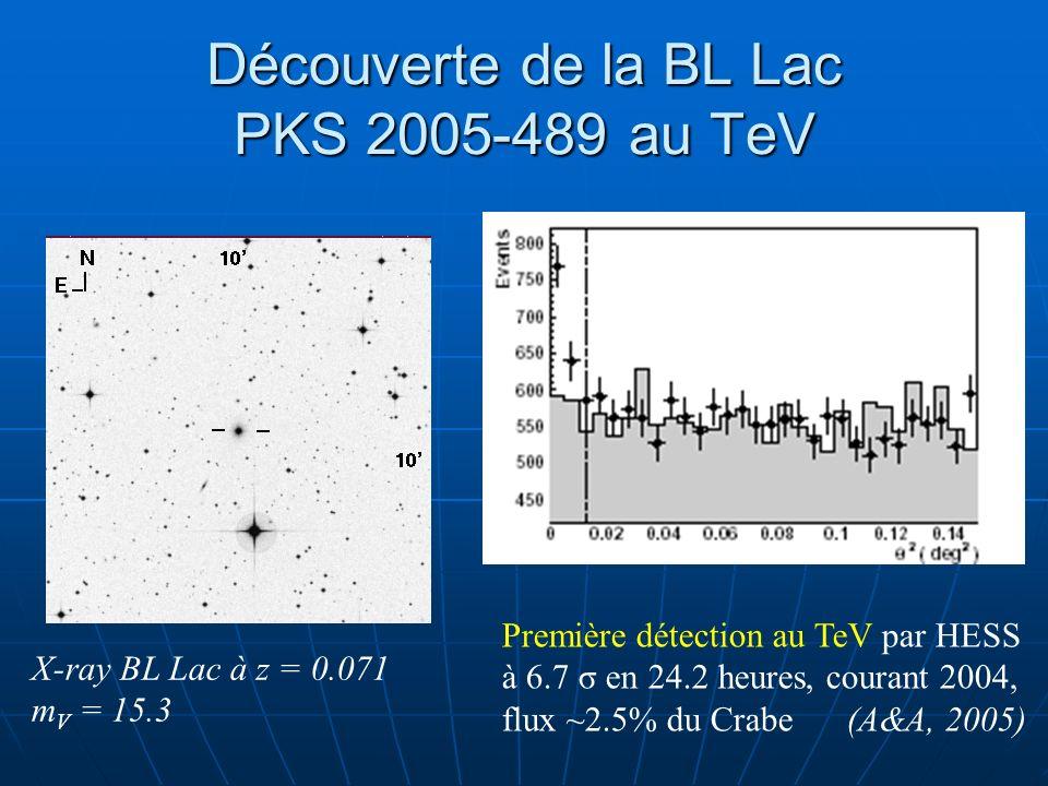 Découverte de la BL Lac PKS 2005-489 au TeV