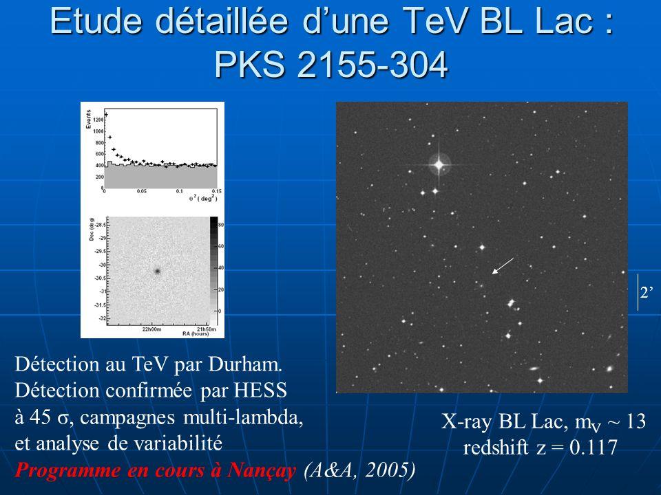 Etude détaillée d'une TeV BL Lac : PKS 2155-304