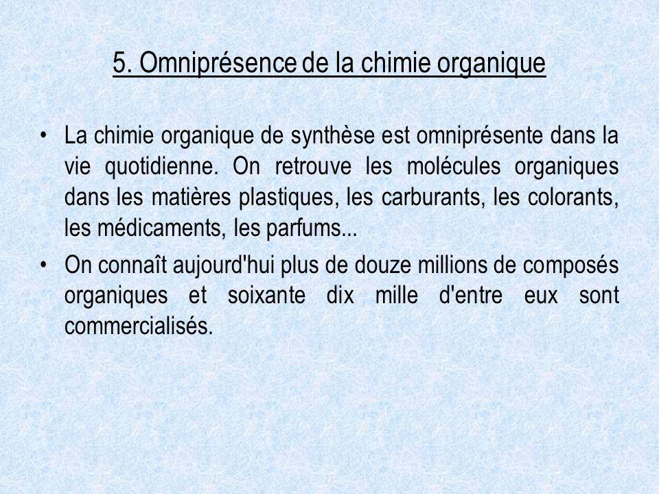 5. Omniprésence de la chimie organique