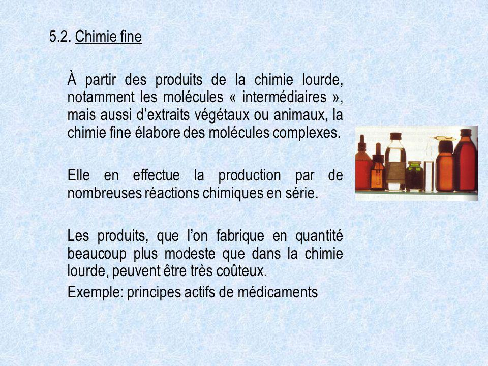 5.2. Chimie fine