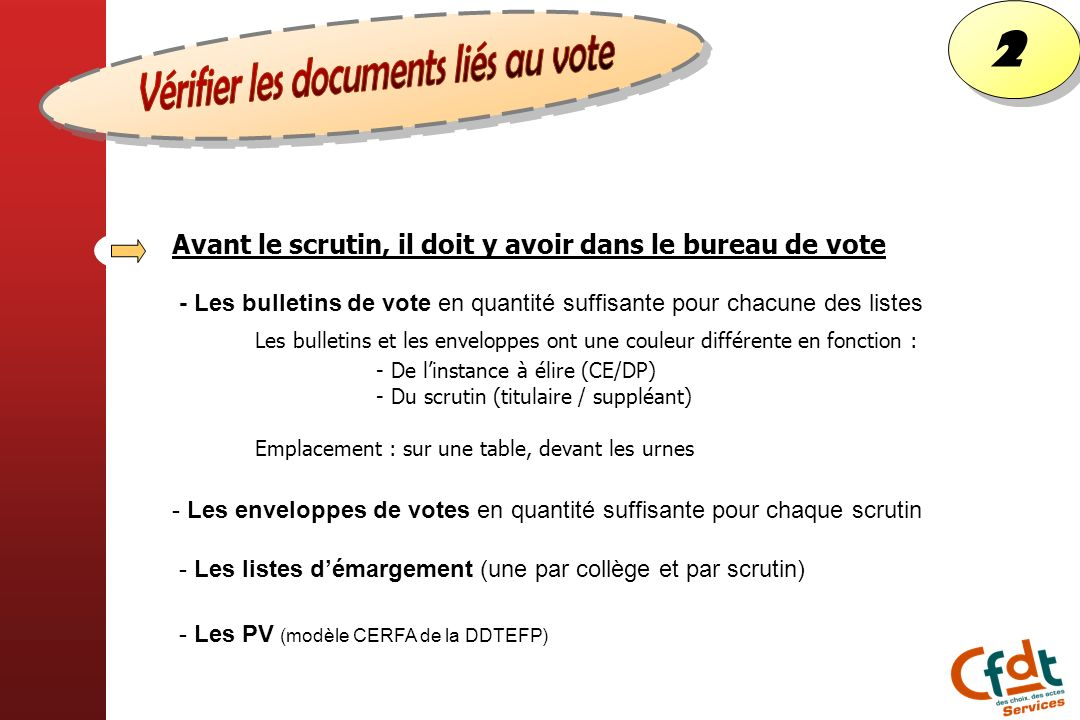 Vérifier les documents liés au vote