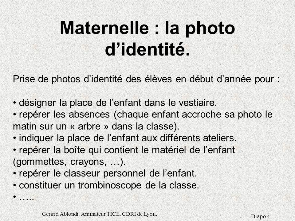 Maternelle : la photo d'identité.