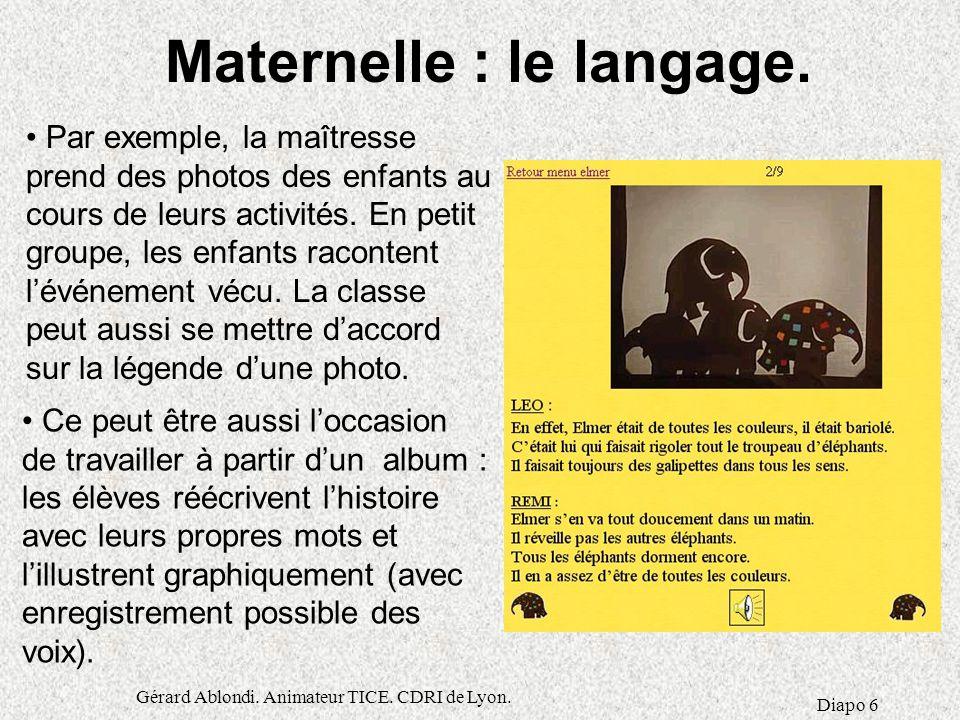 Maternelle : le langage.