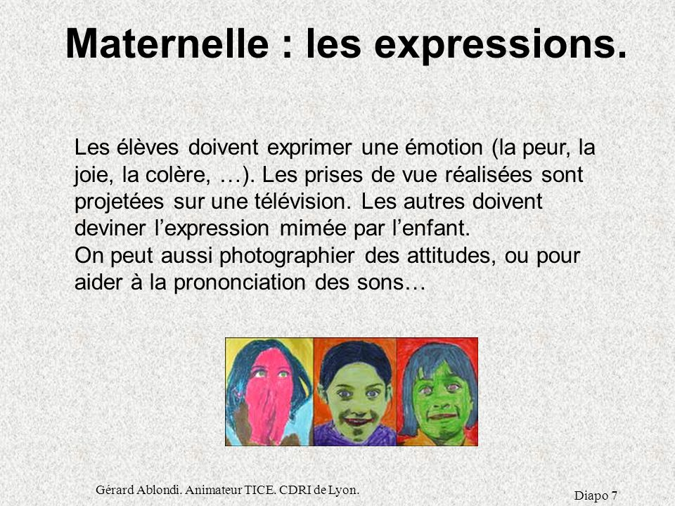 Maternelle : les expressions.