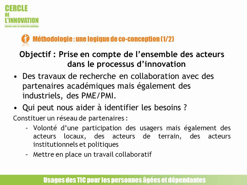 Méthodologie : une logique de co-conception (1/2)
