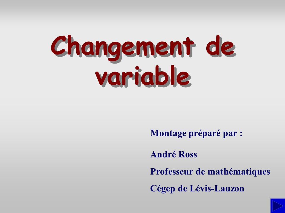 Changement de variable
