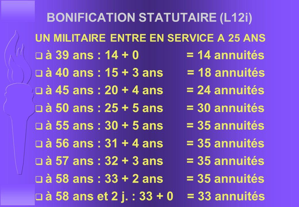 BONIFICATION STATUTAIRE (L12i)