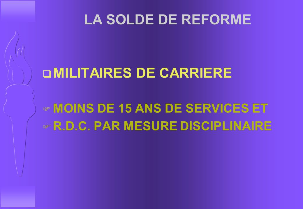 MILITAIRES DE CARRIERE
