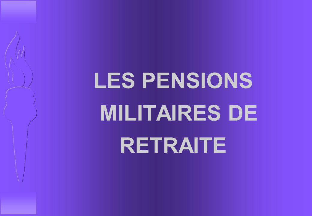 LES PENSIONS MILITAIRES DE