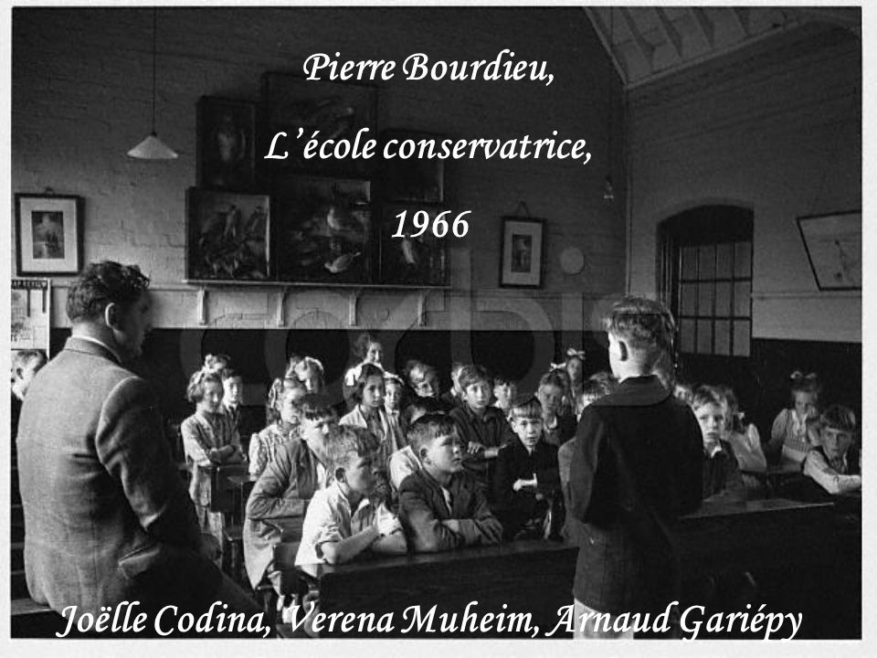 L'école conservatrice, Joëlle Codina, Verena Muheim, Arnaud Gariépy