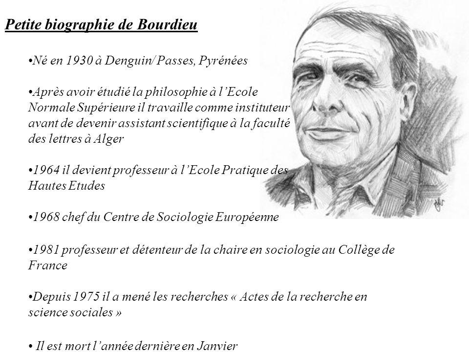 Petite biographie de Bourdieu
