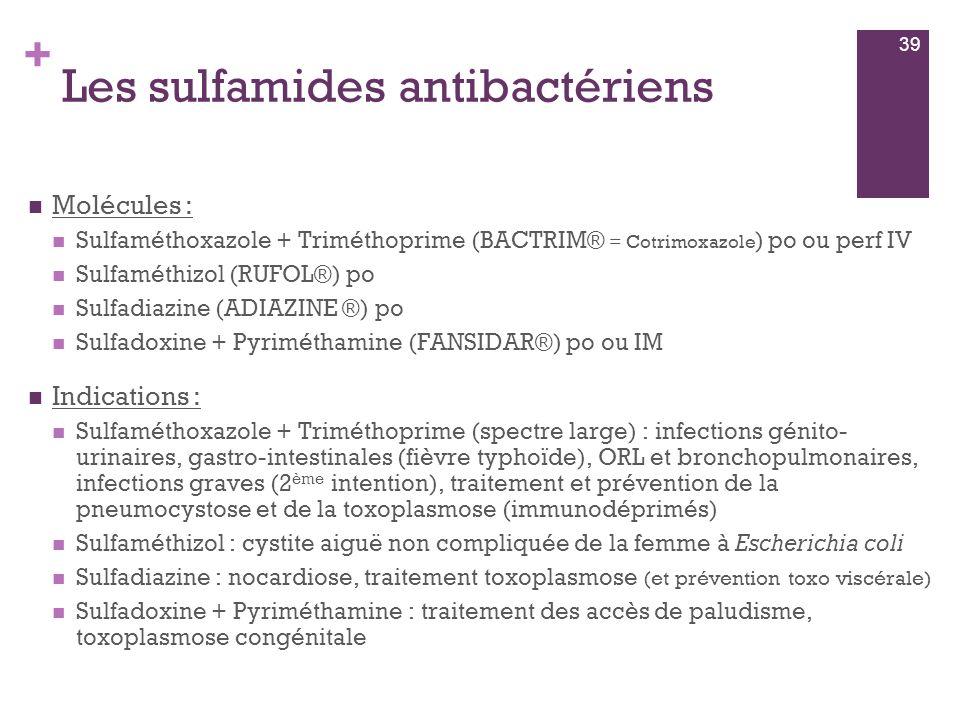 Les sulfamides antibactériens