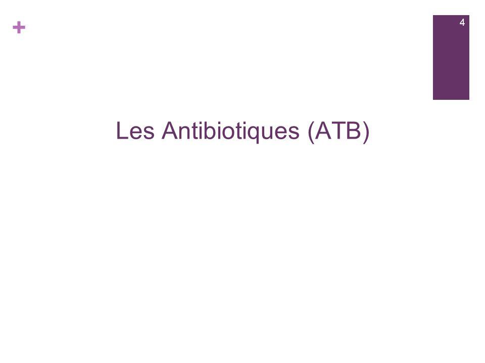 Les Antibiotiques (ATB)