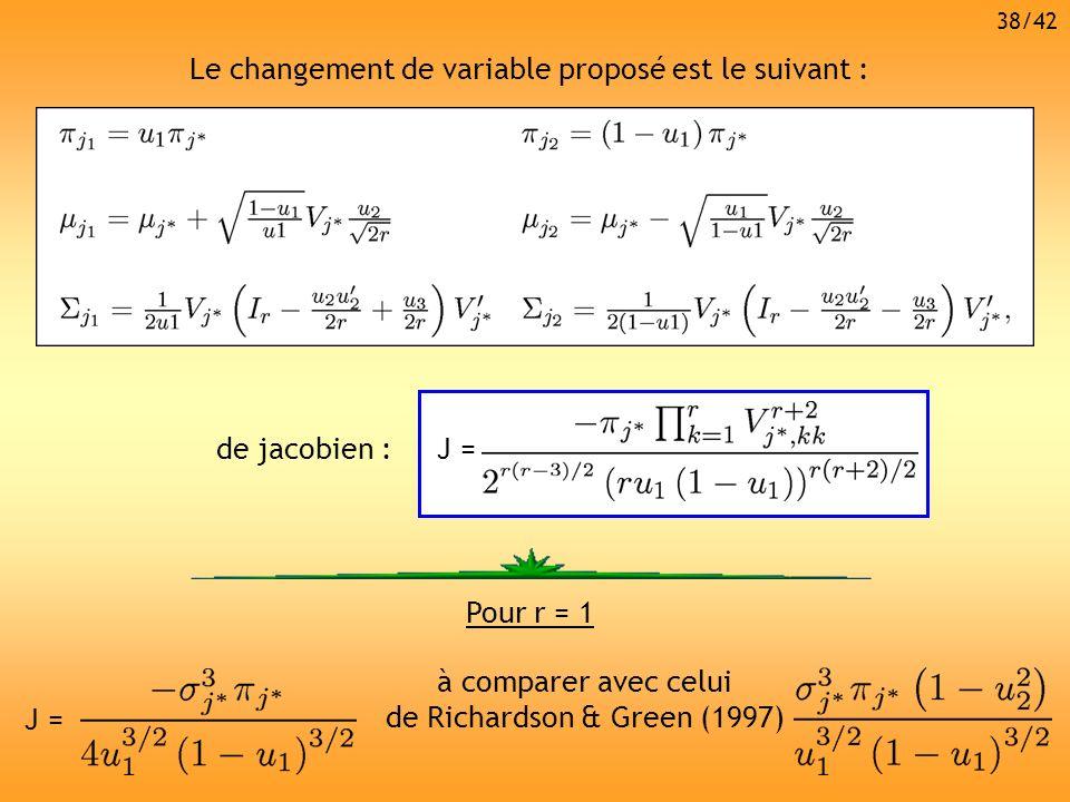 Le changement de variable proposé est le suivant :
