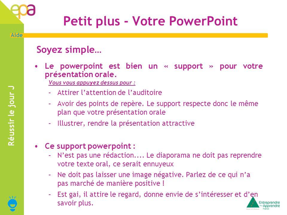 Petit plus - Votre PowerPoint