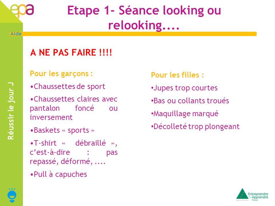 Etape 1- Séance looking ou relooking....